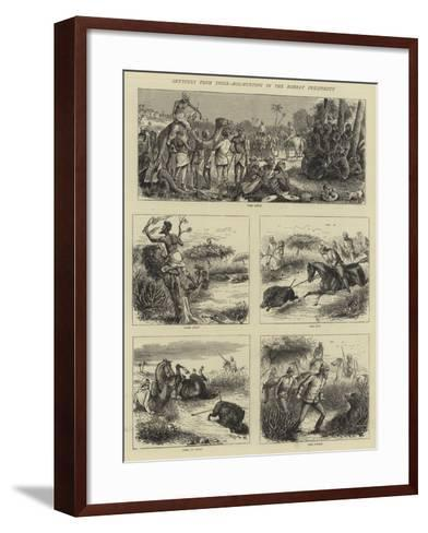 Sketches from India, Hog-Hunting in the Bombay Presidency-William Ralston-Framed Art Print