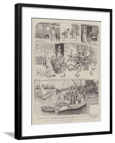 A Scotch Family Robinson and their Holiday on an Island-William Ralston-Framed Art Print