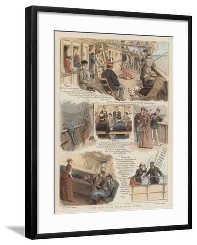 The Girl with Thirty-Nine Lovers-William Ralston-Framed Art Print