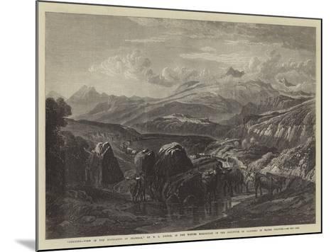 Morning-William Leighton Leitch-Mounted Giclee Print