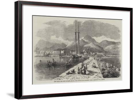 New Canal and Town of Santa Maura, One of the Ionian Islands-William Leighton Leitch-Framed Art Print