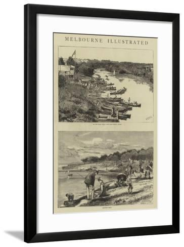 Melbourne Illustrated-William Lionel Wyllie-Framed Art Print