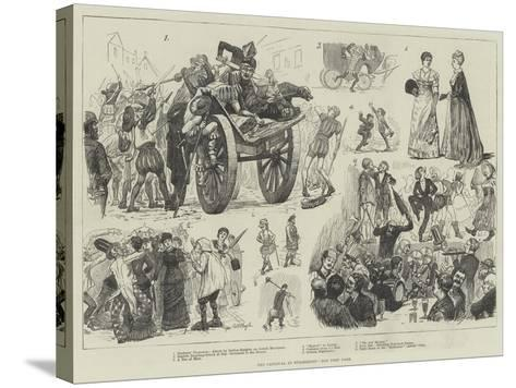 The Carnival at Dusseldorf-William Lockhart Bogle-Stretched Canvas Print