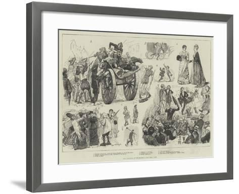 The Carnival at Dusseldorf-William Lockhart Bogle-Framed Art Print