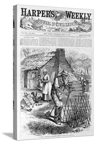 Spring Scene Near Richmond, Virginia from Harper's Weekly, Pub. 1870-William Ludlow Sheppard-Stretched Canvas Print