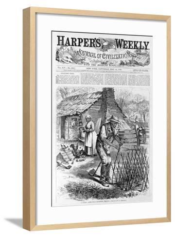 Spring Scene Near Richmond, Virginia from Harper's Weekly, Pub. 1870-William Ludlow Sheppard-Framed Art Print