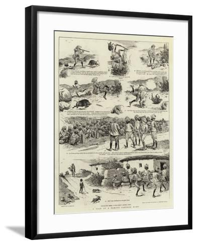 A Tale of a Famous Panther Hunt-William Ralston-Framed Art Print