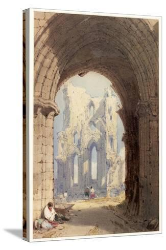 Tynemouth Priory-William Roxby Beverley-Stretched Canvas Print