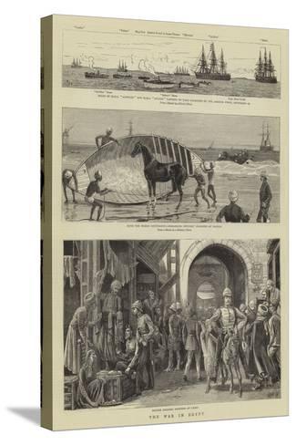 The War in Egypt-William Lionel Wyllie-Stretched Canvas Print