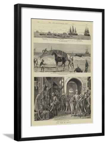 The War in Egypt-William Lionel Wyllie-Framed Art Print