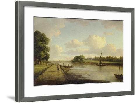 View on the River Thames at Richmond (?), C.1776-William Marlow-Framed Art Print