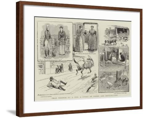 That Wretch of a Pup, a Story of Crime and Retribution-William Ralston-Framed Art Print