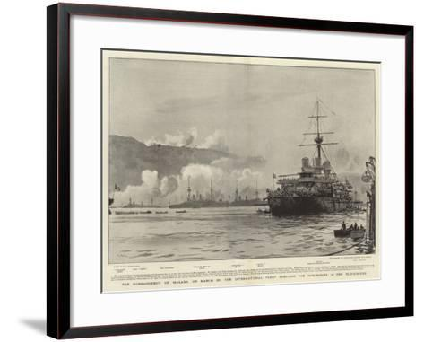 The Bombardment of Malaxa on 23 March-William Lionel Wyllie-Framed Art Print