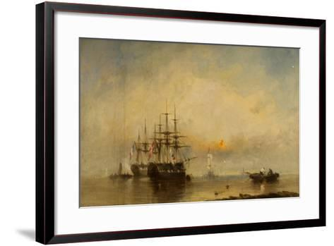 Evening on the Medway-William McAlpine-Framed Art Print