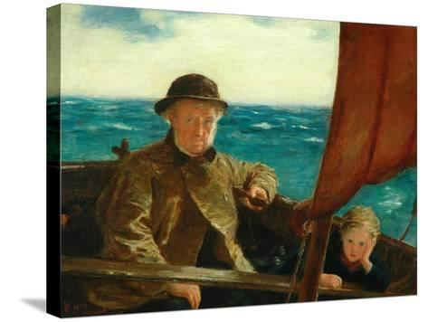 Father Is at the Helm, 1889-William McTaggart-Stretched Canvas Print