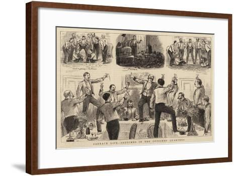 Barrack Life, Sketches in the Officers' Quarters-William Ralston-Framed Art Print