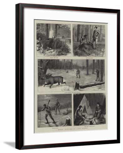 Moose Hunting in Nova Scotia-William Ralston-Framed Art Print