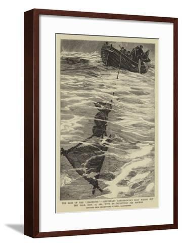 The Loss of the Jeannette-William Lionel Wyllie-Framed Art Print