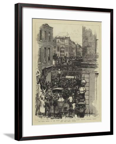 The Royal Review of the Troops from Egypt-William Lionel Wyllie-Framed Art Print