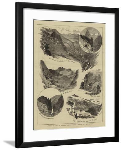 Opening of the St Gothard Railway Tunnel, Sketches in the District-William Lionel Wyllie-Framed Art Print