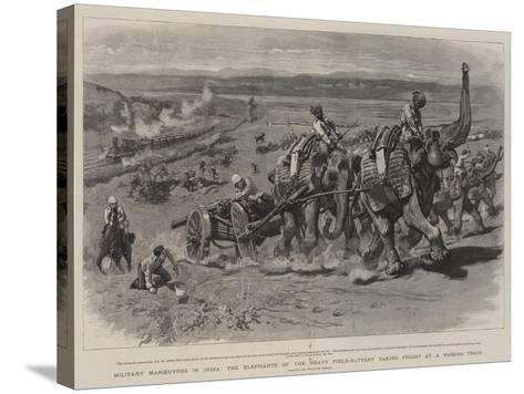 Military Manoeuvres in India-William Small-Stretched Canvas Print