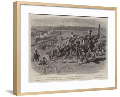 Military Manoeuvres in India-William Small-Framed Art Print