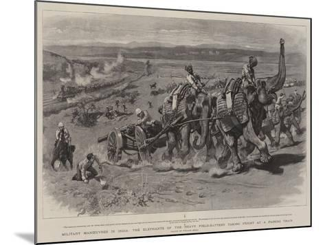 Military Manoeuvres in India-William Small-Mounted Giclee Print