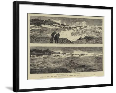 Pouring Oil on the Troubled Waters at Peterhead, 1 March 1882-William Lionel Wyllie-Framed Art Print