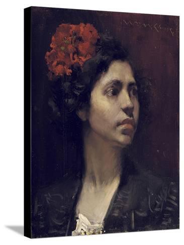 Spanish Girl-William Merritt Chase-Stretched Canvas Print