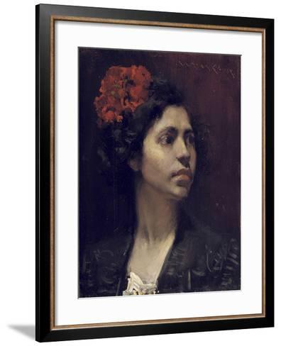 Spanish Girl-William Merritt Chase-Framed Art Print