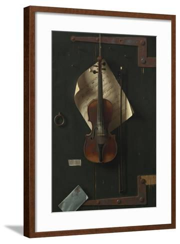 The Old Violin, 1886-William Michael Harnett-Framed Art Print