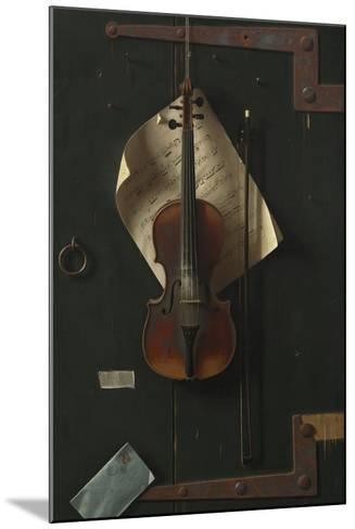 The Old Violin, 1886-William Michael Harnett-Mounted Giclee Print