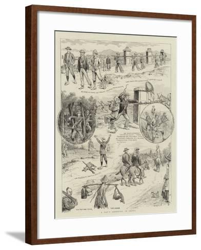 A Day's Shooting in China-William Ralston-Framed Art Print