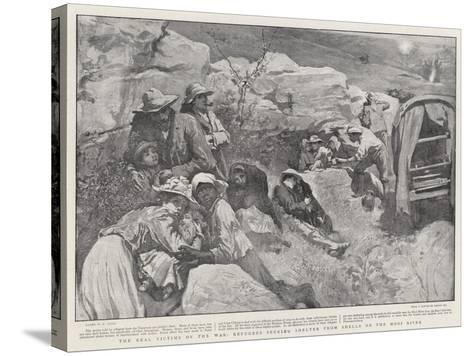 The Real Victims of the War, Refugees Seeking Shelter from Shells on the Mooi River-William Small-Stretched Canvas Print