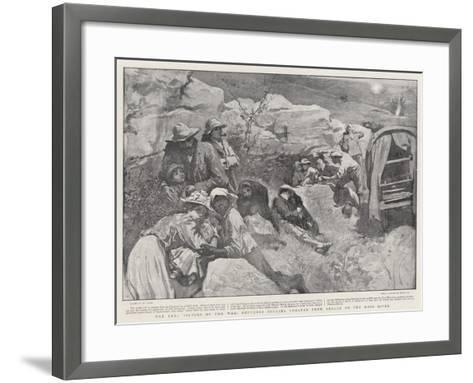 The Real Victims of the War, Refugees Seeking Shelter from Shells on the Mooi River-William Small-Framed Art Print