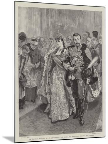 The Imperial Wedding at St Petersburg, the Bride and Bridegroom Leaving the Chapel-William Small-Mounted Giclee Print