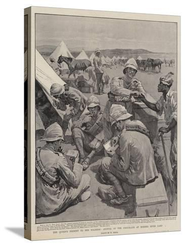 The Queen's Present to Her Soldiers, Arrival of the Chocolate at Modder River Camp-William Small-Stretched Canvas Print