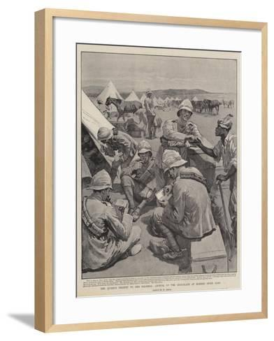 The Queen's Present to Her Soldiers, Arrival of the Chocolate at Modder River Camp-William Small-Framed Art Print