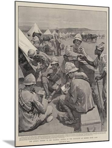 The Queen's Present to Her Soldiers, Arrival of the Chocolate at Modder River Camp-William Small-Mounted Giclee Print