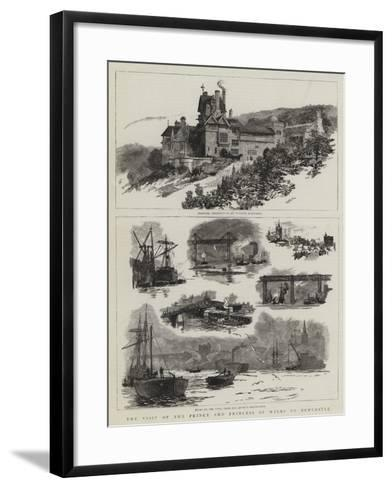 The Visit of the Prince and Princess of Wales to Newcastle-William Lionel Wyllie-Framed Art Print