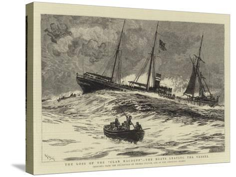 The Loss of the Clan Macduff, the Boats Leaving the Vessel-William Lionel Wyllie-Stretched Canvas Print
