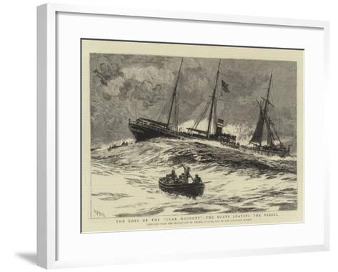 The Loss of the Clan Macduff, the Boats Leaving the Vessel-William Lionel Wyllie-Framed Art Print
