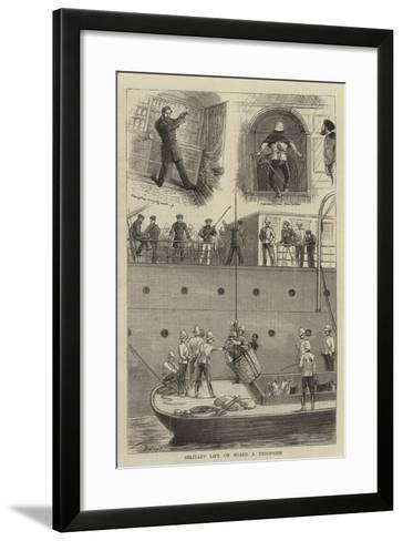 Military Life on Board a Troopship-William Ralston-Framed Art Print