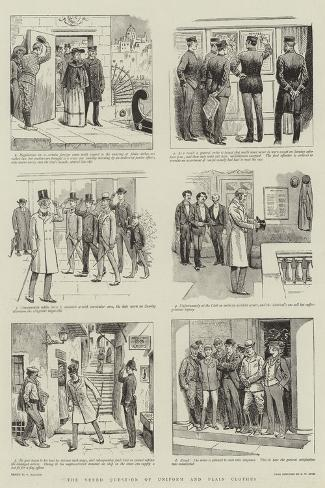 The Vexed Question of Uniform and Plain Clothes-William Ralston-Stretched Canvas Print