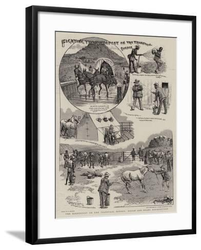 Fighting the Rindepest on the Transvaal Border-William Ralston-Framed Art Print