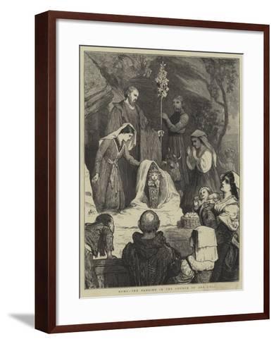 Rome, the Bambino in the Church of Ara Coeli-William III Bromley-Framed Art Print