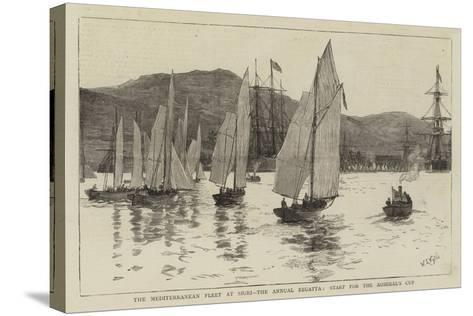 The Mediterranean Fleet at Sigri, the Annual Regatta, Start for the Admiral's Cup-William Lionel Wyllie-Stretched Canvas Print