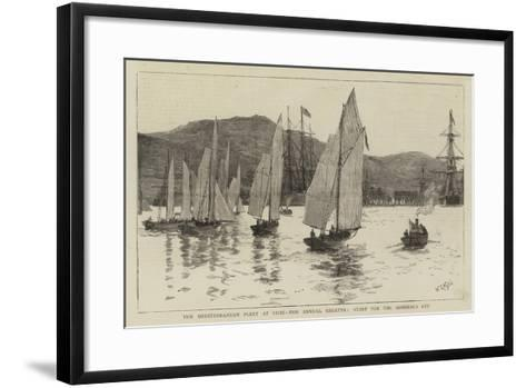 The Mediterranean Fleet at Sigri, the Annual Regatta, Start for the Admiral's Cup-William Lionel Wyllie-Framed Art Print