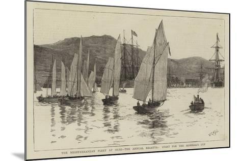 The Mediterranean Fleet at Sigri, the Annual Regatta, Start for the Admiral's Cup-William Lionel Wyllie-Mounted Giclee Print