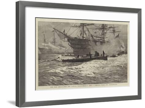 The Old Style and the New, a Three-Decker and a Torpedo Boat Off Portsmouth-William Lionel Wyllie-Framed Art Print